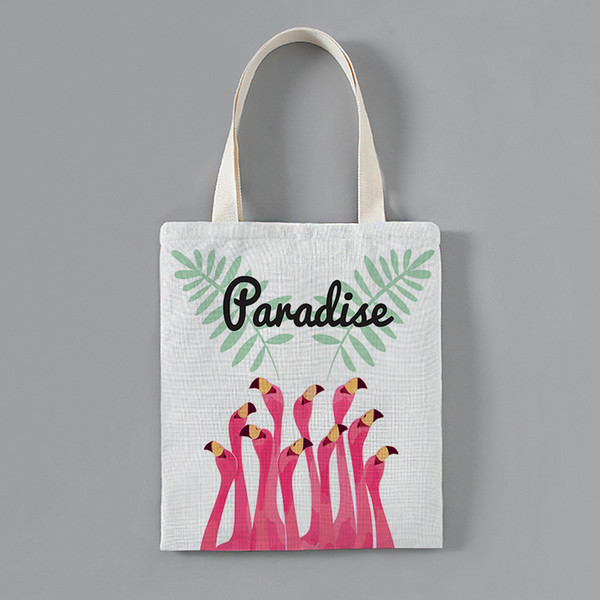 customized solid corduroy shoulder bags flame bird pattern print tote package purses casual handbag shopping bag for young girl (451439452) photo