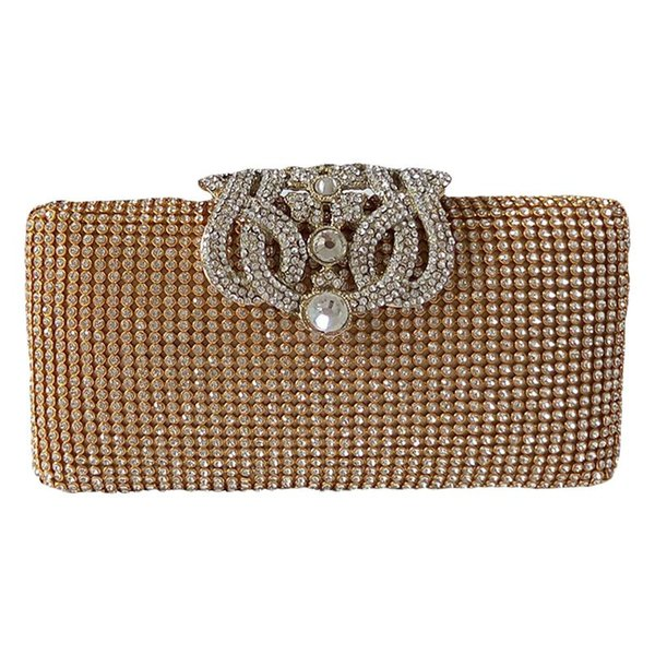 dazzling rhinestone encrusted evening bag clutch purse party bridal prom (466696051) photo