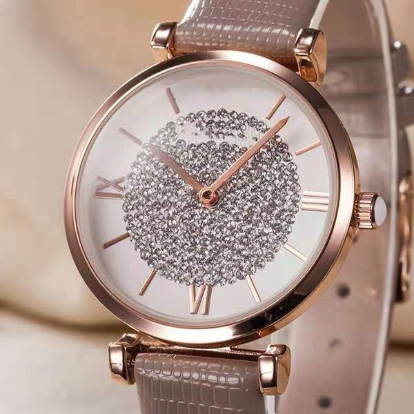 Акции Горячие Продажи Алмазные Часы Роскошные Часы Женские Gemstone Diamond Dial Женские 32