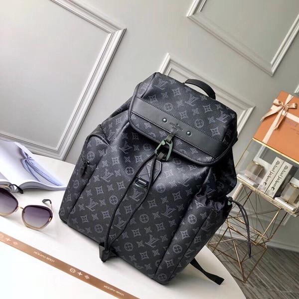 Top-Qaulity M43694 размер 35..54.5..19cm Италия Дизайнерская мода Рюкзак сумка Шелковая подклад