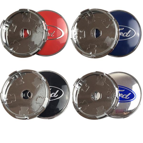 Новый 4 шт. / Лот Синий 60 мм Крышки Колпаки для Ford Колпачок Центр Колеса для Ford Fusion Fo