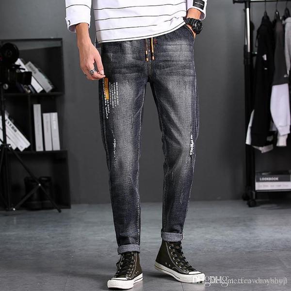 Мужские роскошные дизайнерские джинсы, квадратные джинсы, мужские духи, мотоциклы, возрождение рыцарского рока, узкие модные джинсы с высокой талией фото