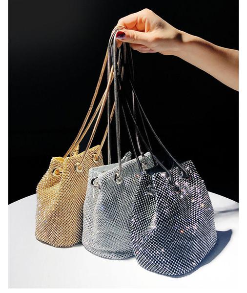 xianjian bling bling crystal rhinestone bucket evening handbag purse bolsas evening handbag purse factory pricing (512427285) photo