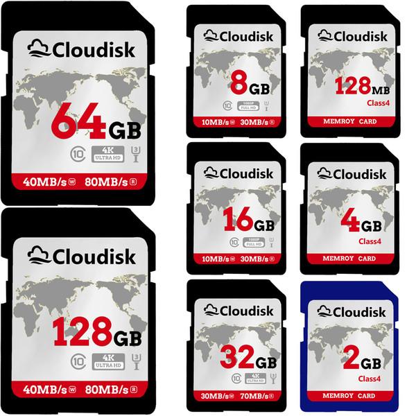 SD-карта 128 МБ 1 ГБ 2 ГБ 4 ГБ 8 ГБ 16 ГБ 32 ГБ 64 ГБ 128 ГБ SDXC UHS-I карта - C10, U3, V30, 4K UHD, карта флэш фото