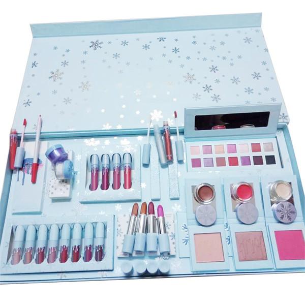 2019 новые наборы для макияжа праздник коллекция жидкие матовые помады комплект палитра теней для век блеск маркер Рождественский подарок комплект