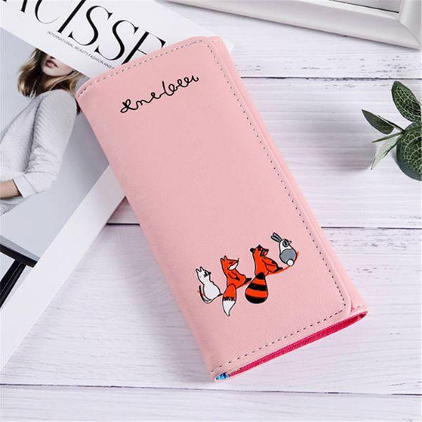 women girls wallet cute cartoon  print wallet coin purse card holders shopping long purse clutch (479496291) photo