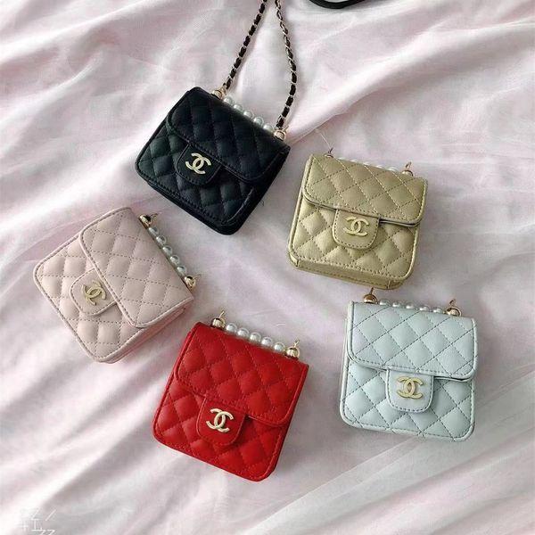 kids designer purses 2020 korean girls mini princess purses fashion pearls chain shoulder bags children candy coin bags kids gifts (470873907) photo