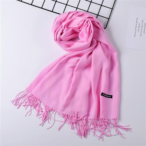 Осень и зима имитация кашемира шарф сплошной цвет шали двухсторонняя щеткой монохромный кашемир теплый шарф прочистки шарф 31-40 фото