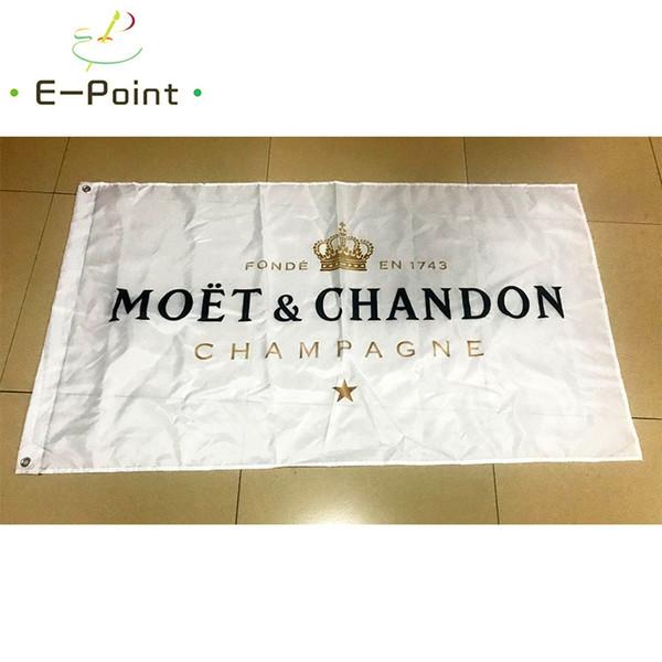 Флаг Moet Chandon 3 * 5ft (90 см*150 см) полиэстер флаг баннер украшения летающий дом сад флаг фото