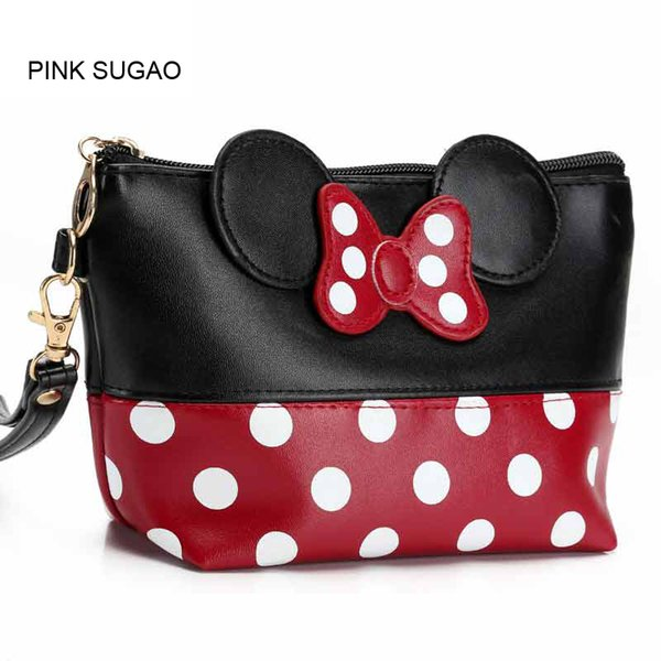 pink sugao makeup bag waterproof cosmetic bag women make up toiletry travel organizer cartoon purse organizer (519235064) photo