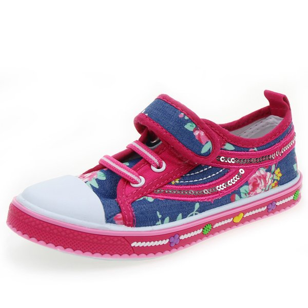 #26#27#28#29#30#31 Children Shoes Breathable Gril Sneakers Canvas Shoes Back to School Flat ML1417C