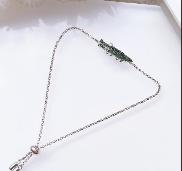 luxury_jewelry_bracelets_s925_sterling_silver_bracelets_crocodile_green_crystal_single_charm_bracelets_for_women_hot_fashion