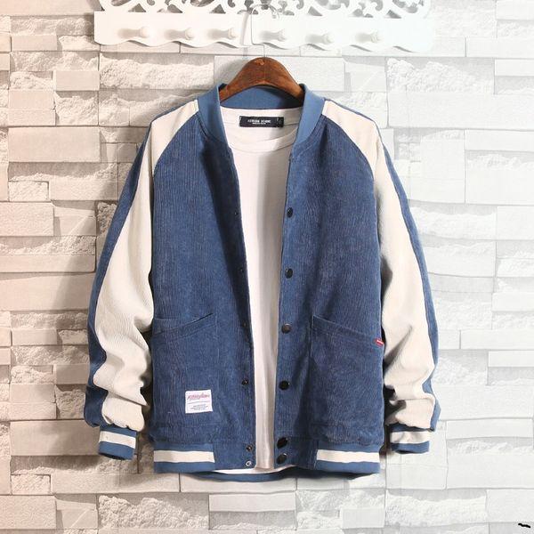 Мужская осень корейской джинсовой куртки вскользь куртки весной и осенью студенты практикуют красивый бейсбол одежды мода мужская одежда фото