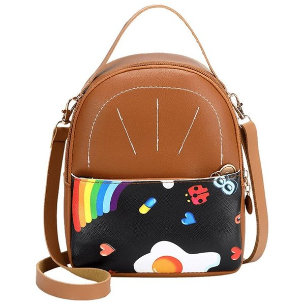 fashion women shoulders rainbow letter purse mobile phone messenger bag handles for handbags bolsa feminina 2020 (519017988) photo