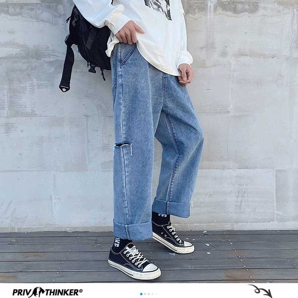 Straight Ripped Fashion Mens Jeans 2020 Summer Oversize 5XL Jeans Man Loose High Street Collage Male Denim Pants