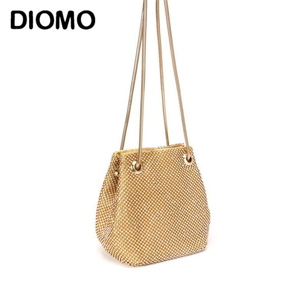 diomo luxury women handmade evening bags ladies diamond mini purses hand bag small shoulder bag (522286989) photo