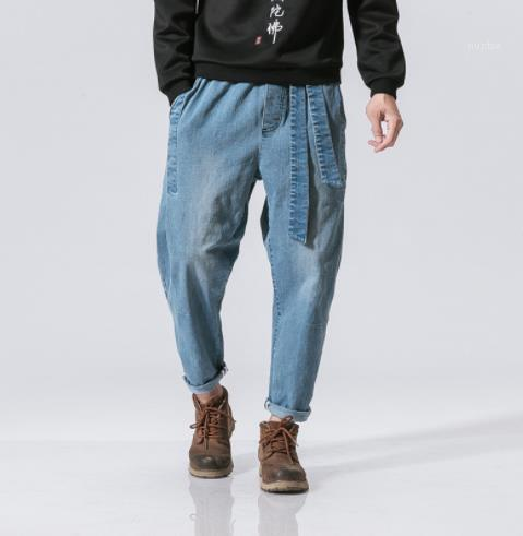 Zipper Old School Style Homme Clothing Fashion Style Casual Apparel Mens Loose Designer Jeans Pants Summer