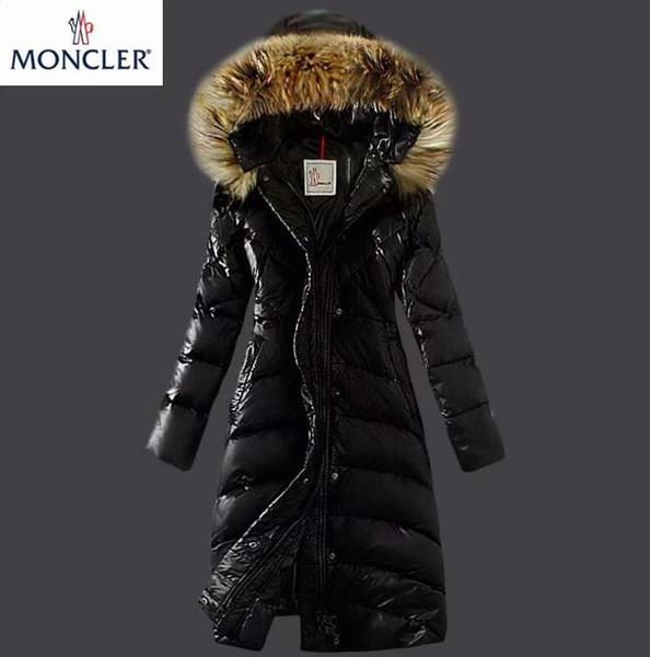 Женская зимняя куртка женская из натурального енота с меховым воротником утка вн фото