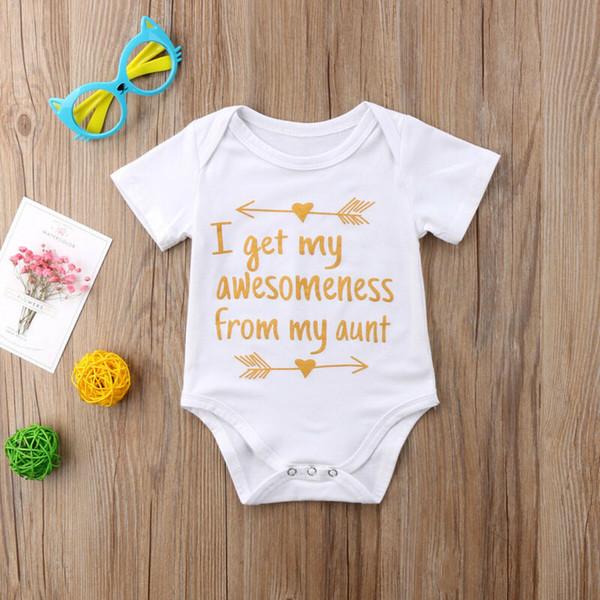 newborn infant baby girl boy romper bodysuit jumpsuit outfits summer clothes