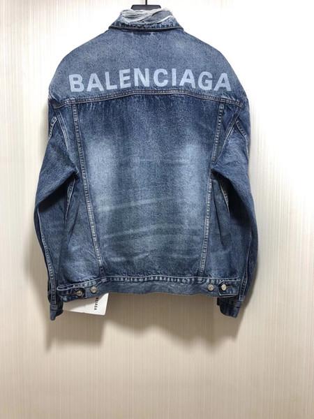 2020 SPRING new mens designer damaged decoration denim jacket ~ US SIZE jackets ~ fashion designer high quality jean jacket for men