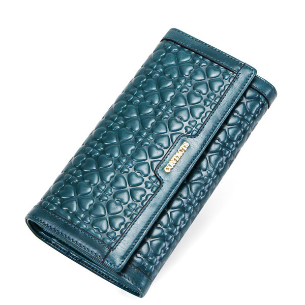 purse women leather embossed lady purse long leisure 70% discount handbag leather wallet (513246950) photo