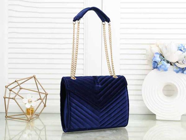 designer luxury handbag purse y purse velvet women chain shoulder strap designer bags loulou purse bag (510924971) photo