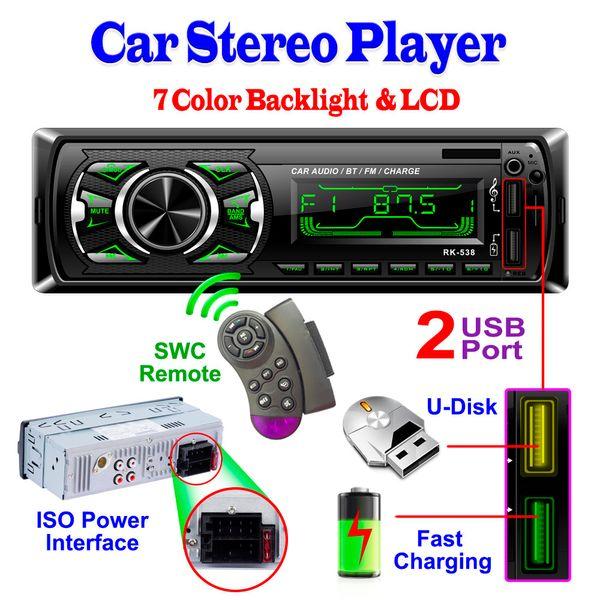 AUX In LCD Audio Stereo In-Dash Autoradio MP3-Player FM-Empfänger Bluetooth