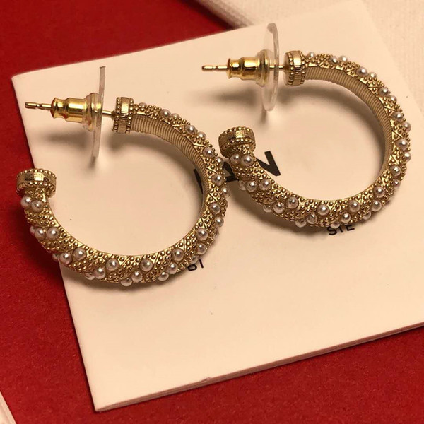 New fa hion earring women gold plated little pearl earring for girl women for party wedding nice gift