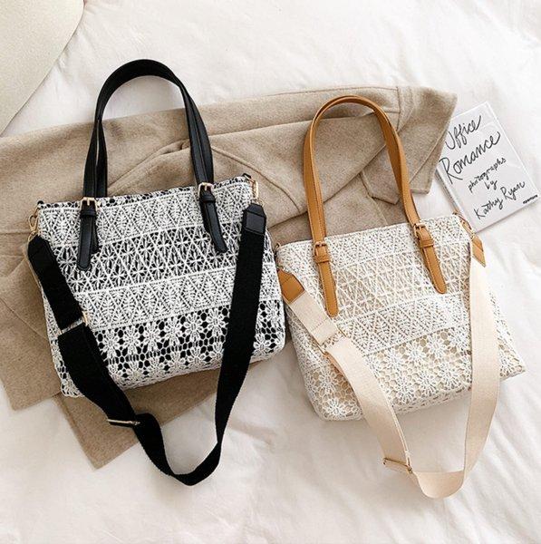 designer luxury handbags purses women lace tote bag new fashion shoulder bags wholesale girls canvas bags (543078853) photo