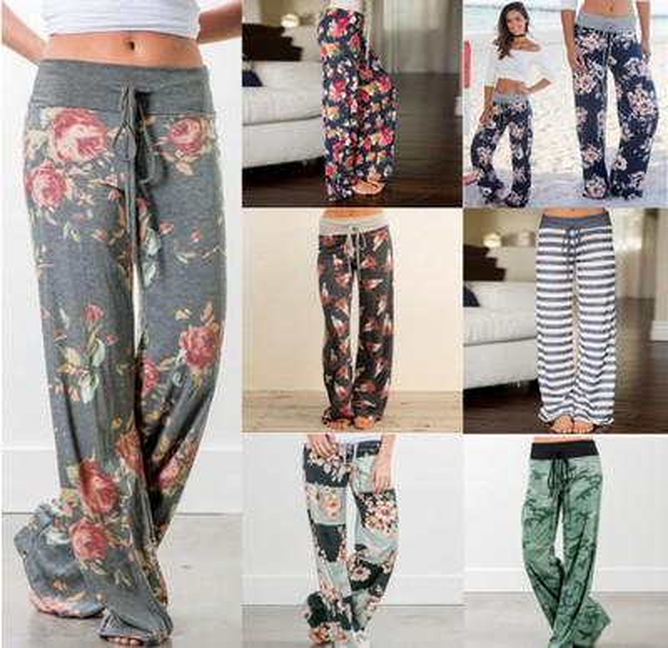 28 color Floral Yoga Fitness Wide Leg Pant Women Flare sports Pants Fashion Harem Pants Palazzo Capris Lady Trousers Loose Long pant c0035