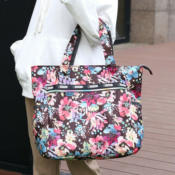 new fashion womens large floral printed handbag shoulder bags tote purse hobo satchel bag (520162708) photo