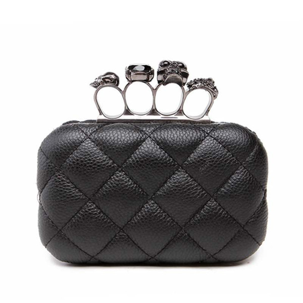 woman evening bag vintage plaid woman clutch bag ladies messenger bags mini black luxury party clutches purse (520296485) photo