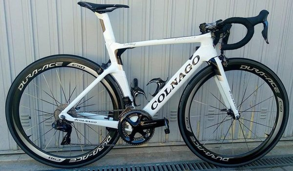 White colnago carbon complete bike bicycle with ultegra r8010 group et for  ale c50 direct mount brake