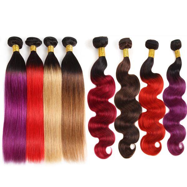 10a brazilian human hair bundle with clo ure ombre color hair exten ion 3bundle with lace clo ure t1b purple 99j body wave traight hair
