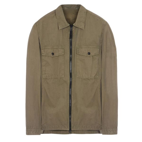 18FW 107WN OVERSHIRT OLD GARMENT DYE Shirt TOPST0NEY Men Women Jacket Facshion Cotton Coat Top HFLSJK324