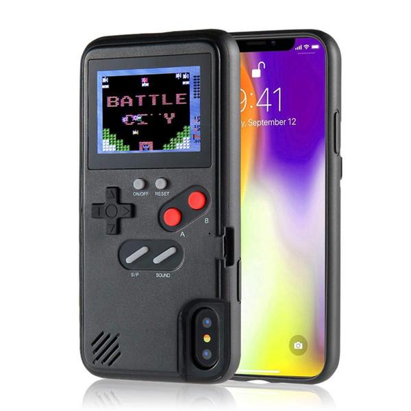 Full color di play retro game phone ca e for iphone x  max xr x 6 6  7 8 plu  tpu phone back cover