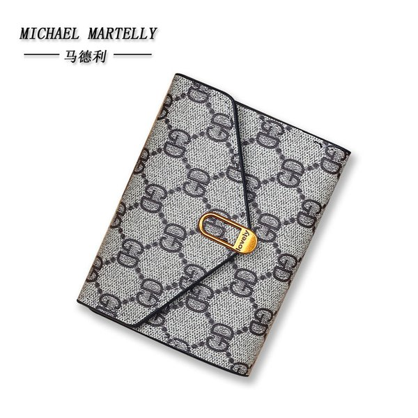hugwiser small popular 50% discount short purse wallet simple 100 lap three folding handbag for female (513250676) photo