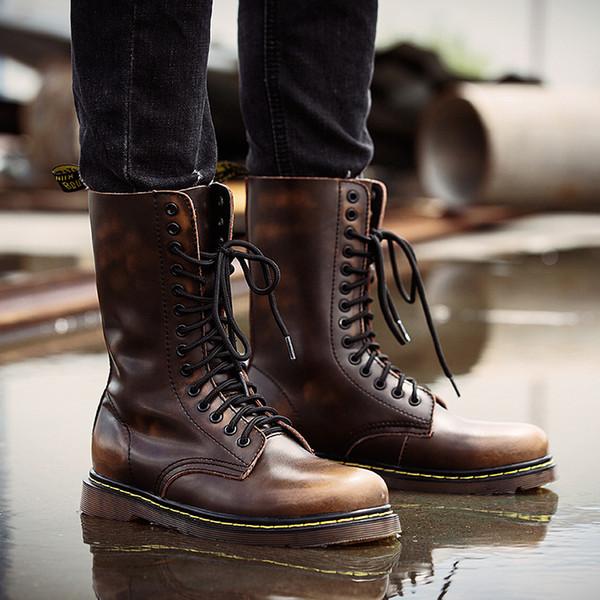 Мужчины ботильоны открытый повседневная зашнуровать обувь мода весна осень пине