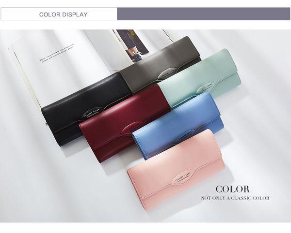solid hasp designer women long wallet big capacity women purse female purse casual clutch wallet girl (458913386) photo