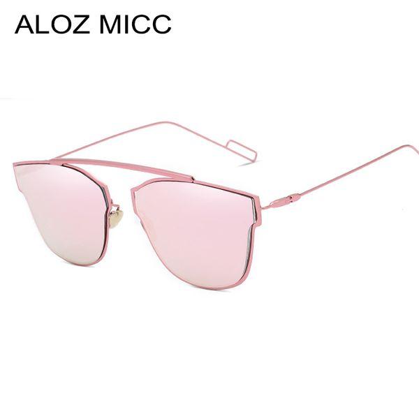 Aloz micc fashion women metal sunglasses vintage brand designer unique alloy sunmmer sunglasses uv400 glasses a026 фото