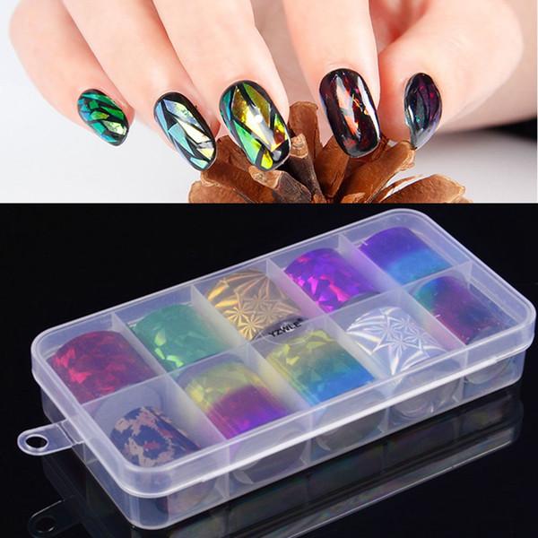 1 box  tarry  ky la er nail foil  colorful  himmer tran fer  ticker diy nail tip  for decoration