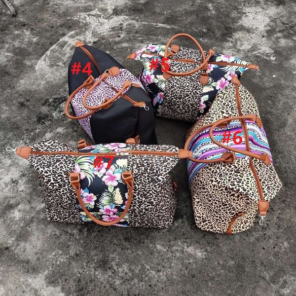 big customer discount patchwork leopard camouflage weekend bags flower leopard patchwork utility tote bags travel purse for woman (530639207) photo