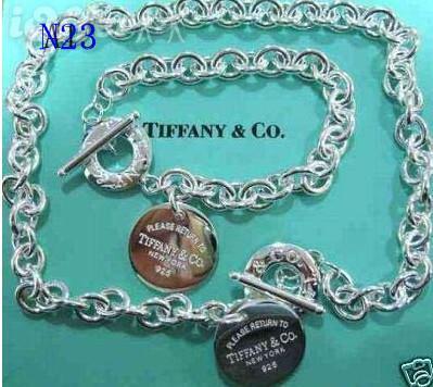 Новые женщины мужчины горячая стерлингового серебра 925 ожерелье и браслет оригин фото