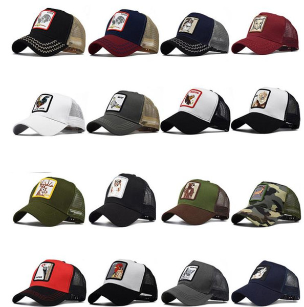 Men's Animal Farm Snap Back Trucker Hat Wolf Mesh Snapback Caps Animals Embroidery Cock Baseball Caps Men Women Snapback Hip Hop Hat