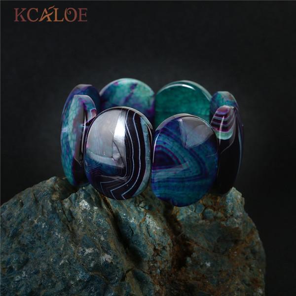 kcaloe_big_onyx_pierre_wrap_bracelets_semi-précieuses_pierres_naturelles_extensible_breloque_femmes_bracelets_minimaliste_bijoux
