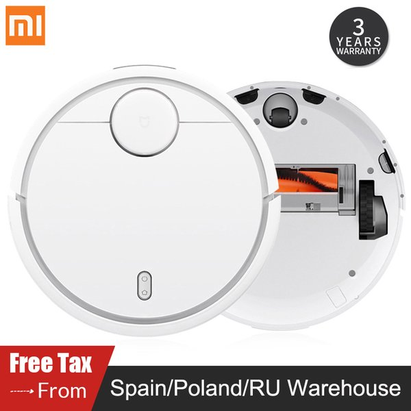Original xiaomi mi robot vacuum cleaner for home automatic weeping charge mart planned wifi mijia app control du t terilize
