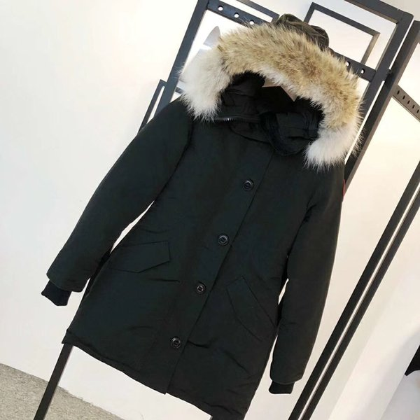 2020 05# goose with real wolf fur down coatman new arrival sale woman guse chateau black down jacket winter coat parka фото