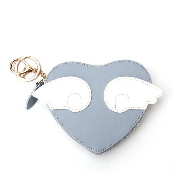 south korea women's pu purse creative heart purse zipper coin pocket (530436398) photo