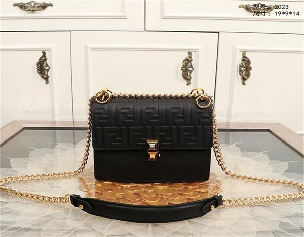 designerluxury handbags purses 19fendi shoulder bags with chain straps adjustable leather red clutch bag pu leather (512352943) photo