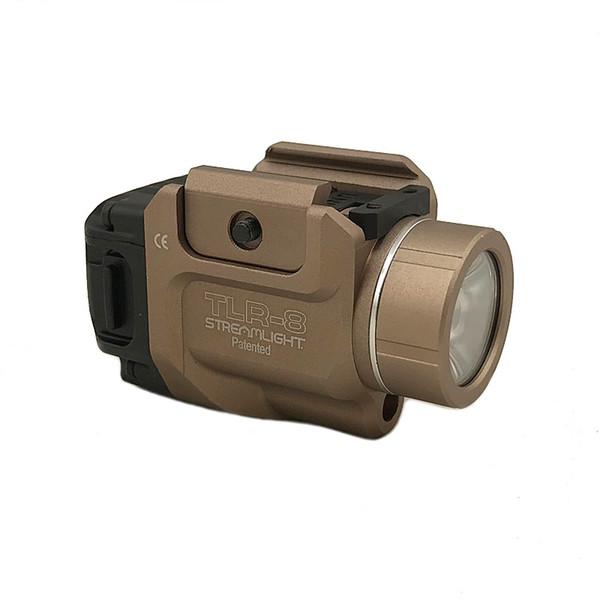 Tactical tlr hunting light tlr 8 treamlight high power output led fla hlight with red la er railed pi tol